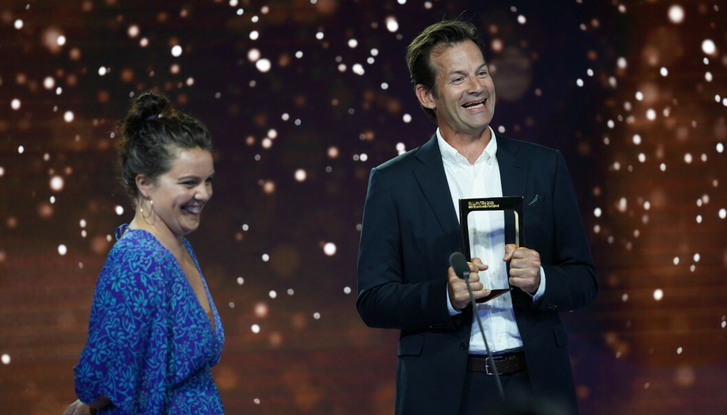 ULVEKYSS: Jon Almaas vant for årets tv-øyeblikk. Foto: NTB Scanpix