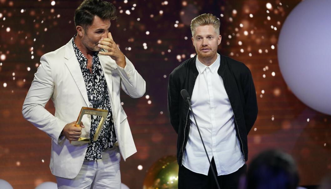 TÅRER: Jan Thomas klarte ikke holde tårene tilbake. Foto: NTB Scanpix