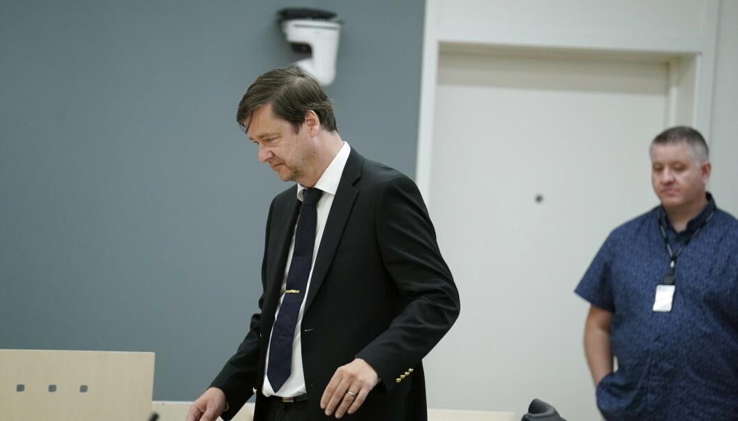 VIL LØSLATE: Forsvarer John Christian Elden argumenterte for løslatelse i retten. Foto: Fredrik Hagen / NTB scanpix