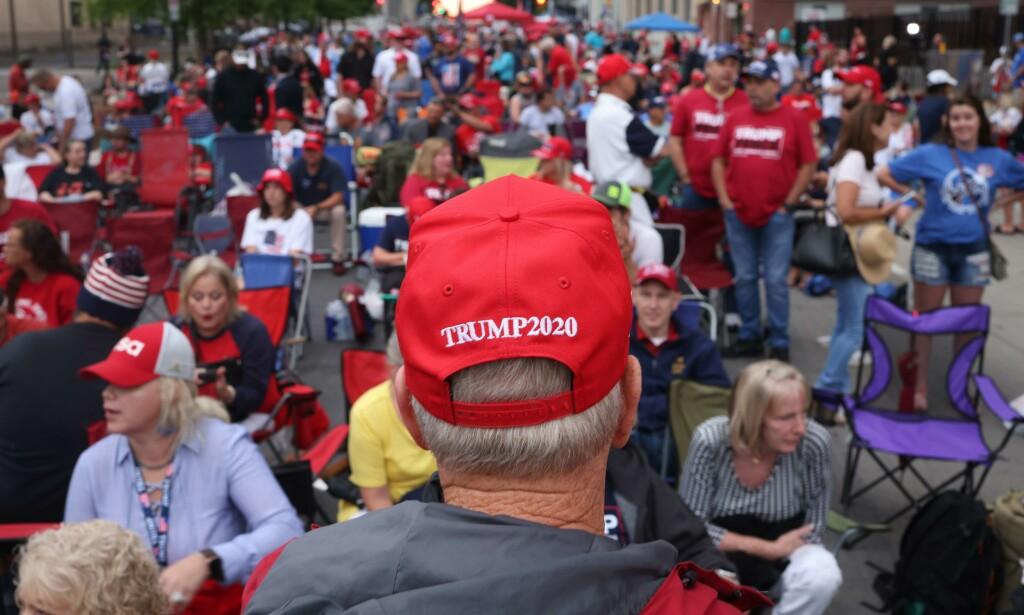 TRUMP2020: Valgkampen starter for alvor igjen i dag, med Trumps første valgkampmøte på lenge. Foto: Win McNamee/Getty Images/AFP