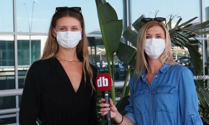ALICANTE: Dagbladets reportere Embla Augusta Hjort-Larsen og Ingunn Dorholt på plass i Alicante.. Foto: Privat.