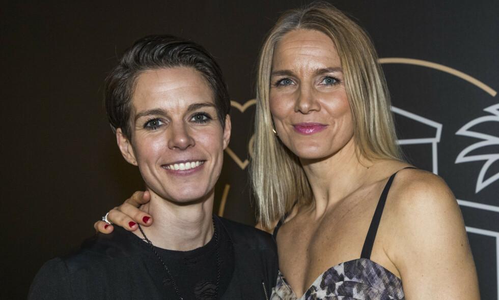 POPULÆRT PAR: I år er det ti år siden forholdet mellom Anja og Gro Hammerseng-Edin ble kjent. Nå åpner sistnevnte opp om den første tida. Foto: Terje Pedersen / NTB scanpix