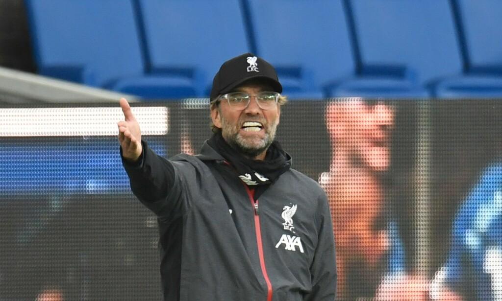 POENGTAP: Jürgen Klopp og Liverpool klarte ikke å slå rivalen Everton. Foto: PETER POWELL / POOL / AFP / NTB Scanpix