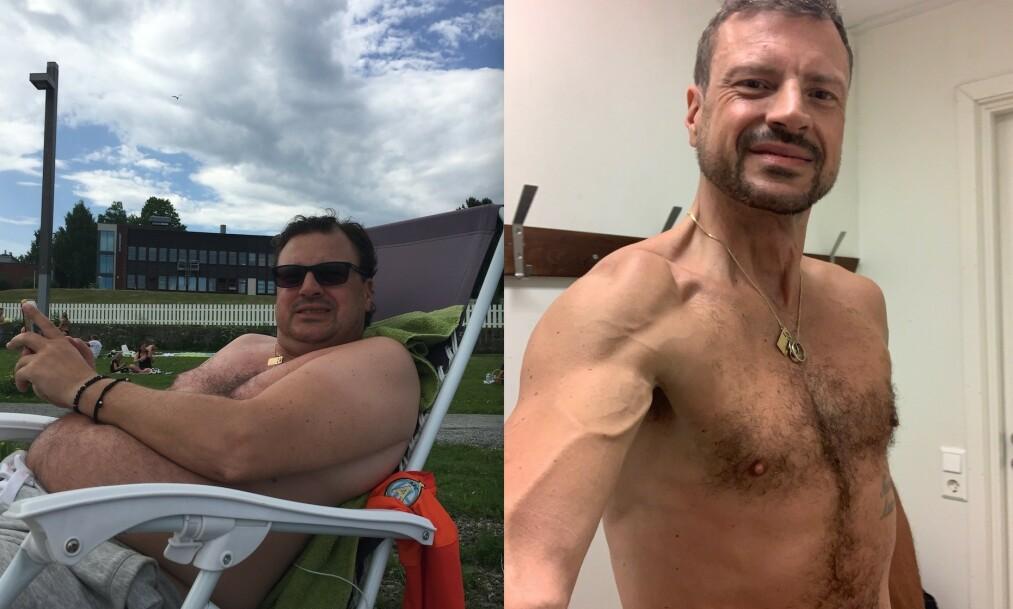<strong>MOTIVERT:</strong> Jens Bergsten (48) ble raskt motivert da han begynte å se resultatene av den nye livsstilen. Foto: Privat