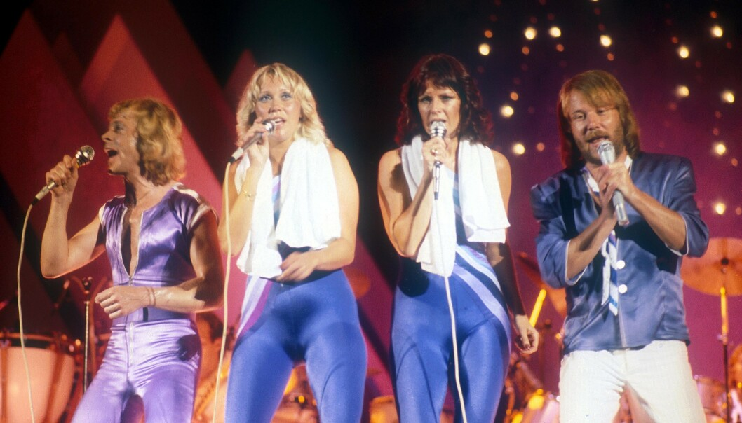 1979: ABBA på scenen i Canada for over 40 år siden. FOTO: Scanpix