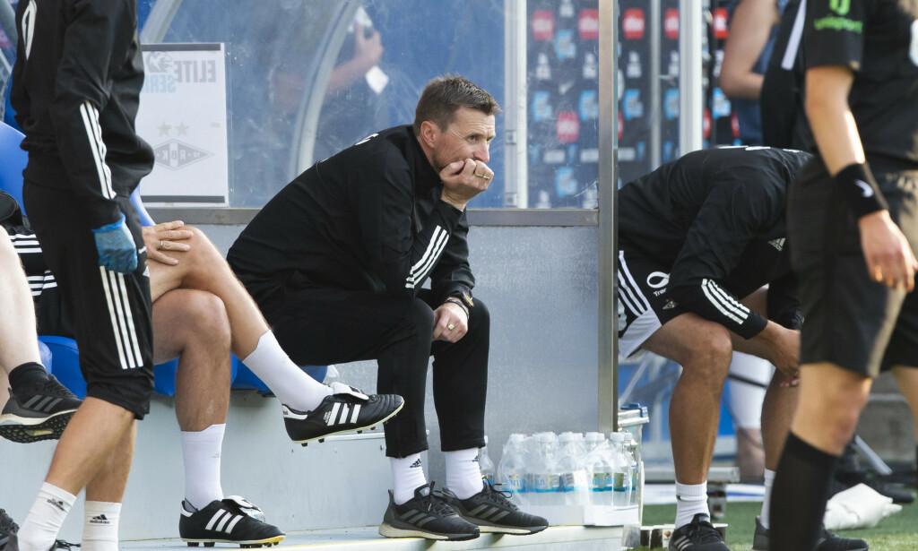 INNKALTE SEG SELV: Rosenborgs trener Eirik Horneland har hatt møte med styreleder Ivar Koteng. Foto: Svein Ove Ekornesvåg / NTB scanpix