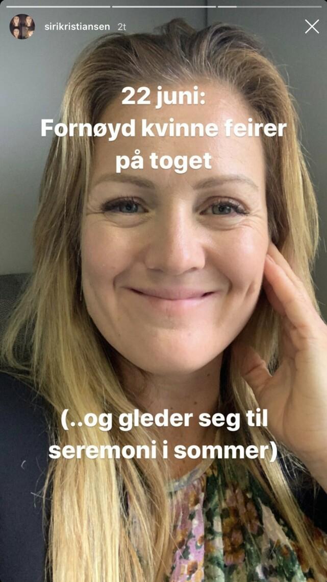 SEREMONI: Det ordentlige bryllupet vil finne sted i sommer, fiølge Kristiansen. Foto: Skjermdump Instagram