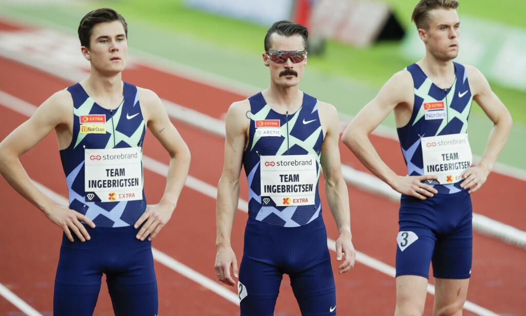 NYTT STEVNE: Jakob og Filip Ingebrigtsen løper 800 meter på Bislett, mens Henrik løper 5000 meter. Foto: Vidar Ruud / NTB scanpix