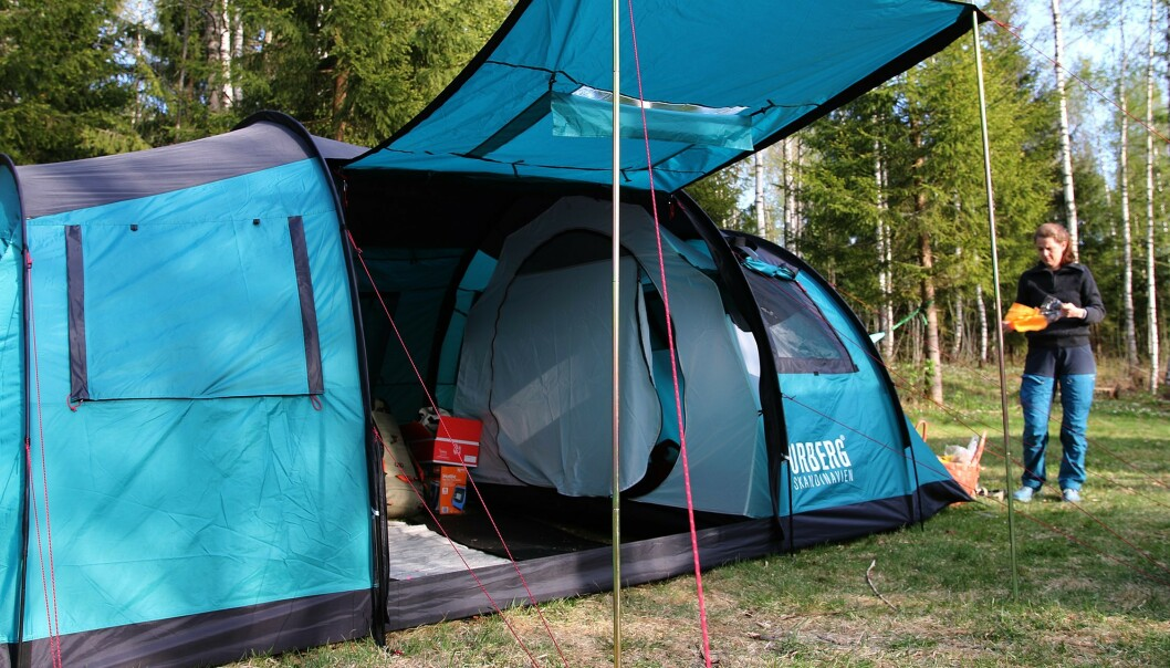 <strong>GOD PLASS:</strong> Å ta med seg telt kan være et rimelig alternativ som også gir deg mye frihet. Foto: NAF