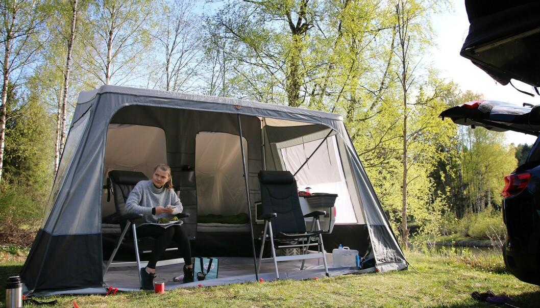 <strong>NEST DYREST:</strong> Camp-let Dream koster nesten 100.000 kroner, men gir ikke helt samme luksus som mange kanskje er vant med fra campingvogn. Foto: NAF