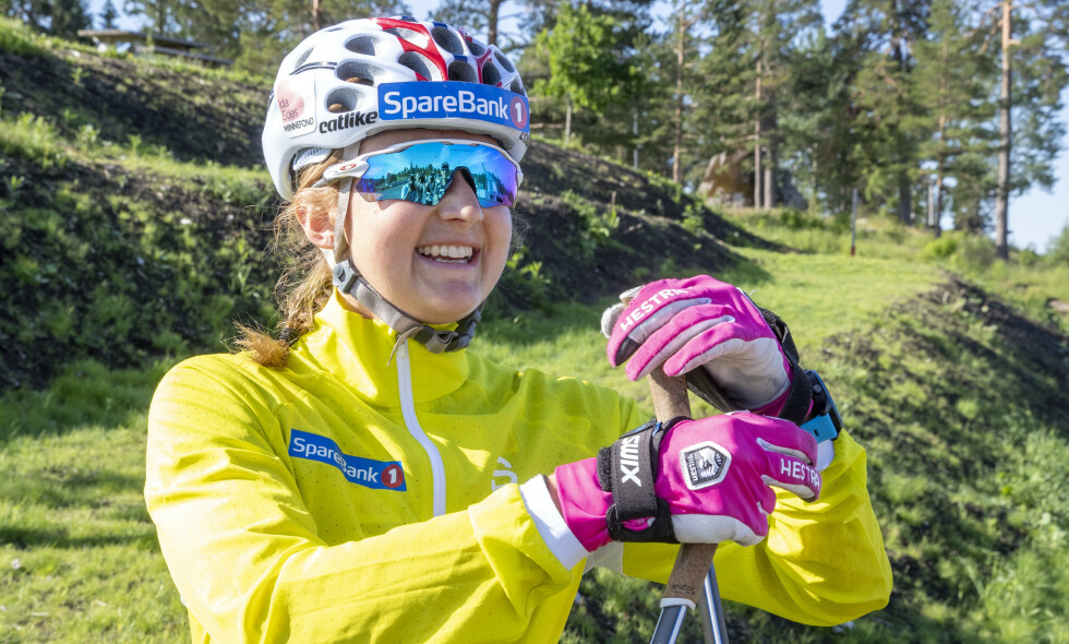 TILBAKE: Ingvild Flugstad Østberg var tilbake med resten av langrennslandslaget under en rulleskiøkt i Holmenkollen tirsdag. Foto: Terje Pedersen / NTB Scanpix