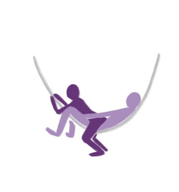 HENGEKØYESTILLINGER: Maria har mange gode tips til stillinger man kan utføre i hengekøyen. FOTO: Illustrasjonsbilde