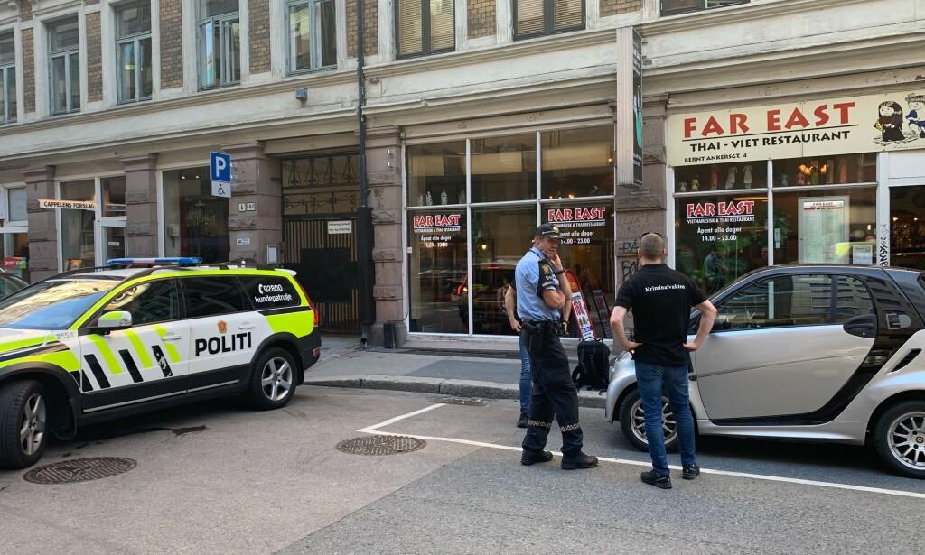 PÅGREPET: De pågrepne ble funnet på restauranten Far East. Foto: Audun Hageskal / Dagbladet