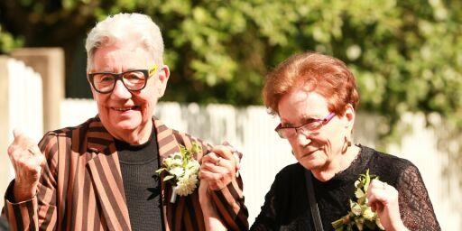 image: Unni (80) og Brith (84) endelig gift
