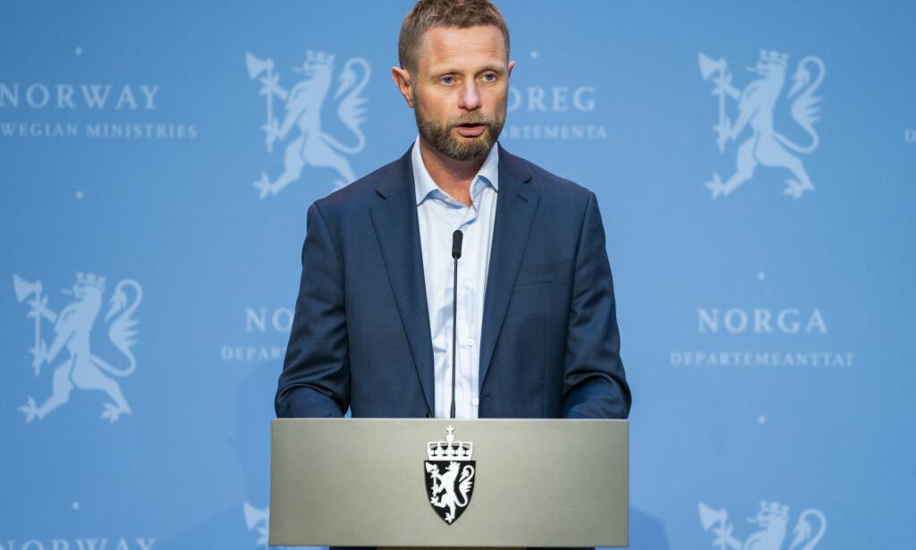 Oslo 20200624.  Helseminister Bent Høie (H) under pressekonferanse om utviklingen av koronapandemien. Foto: Håkon Mosvold Larsen / NTB scanpix