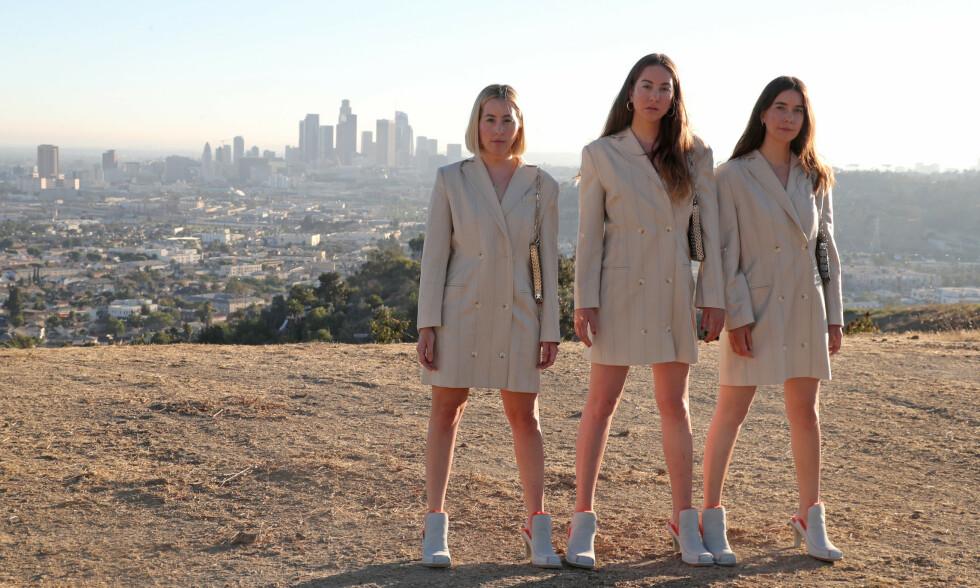 ALBUM III: De tre søstrene Este, Alana og Danielle Haim er aktuelle med album nummer tre, «Women in Music Pt. III». En av låtene, «Los Angeles», er en hyllest til hjembyen. Foto: Chelsea Lauren / WWD / Shutterstock / NTB Scanpix