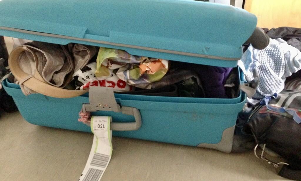 Plass i kofferten: Hvor mye får du egentlig plass til i en koffert. Foto: Odd Roar Lange