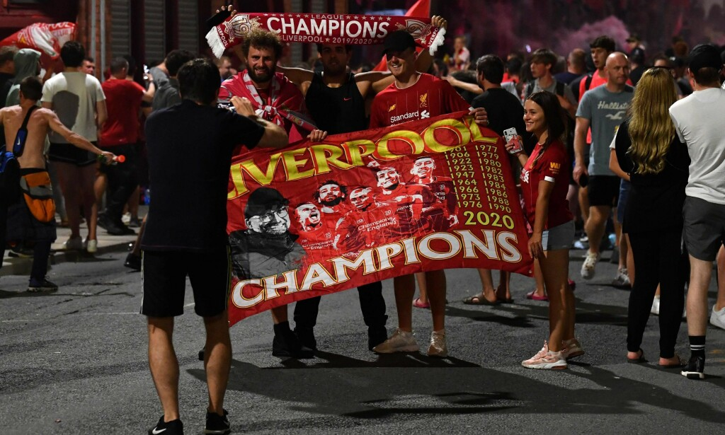 30 ÅRS VENTETID OVER: Liverpool vant Premier League for første gang. Foto: Paul ELLIS / AFP / NTB Scanpix