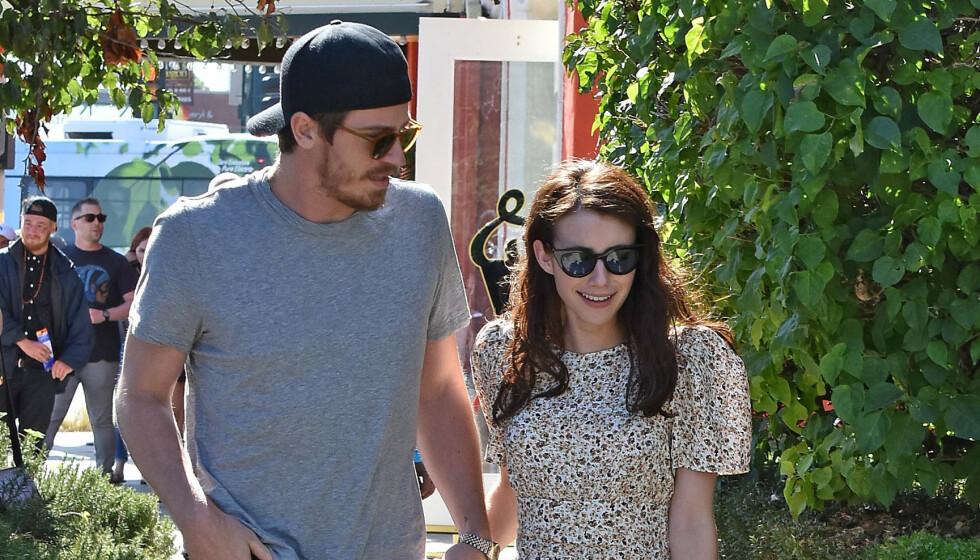 GRAVID: Emma Roberts og kjæresten Garrett Hedlund venter angivelig sitt første barn sammen. Foto: NTB Scanpix