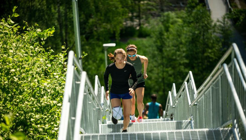 SPORTY: Caroline trener opptil seks ganger i uka.