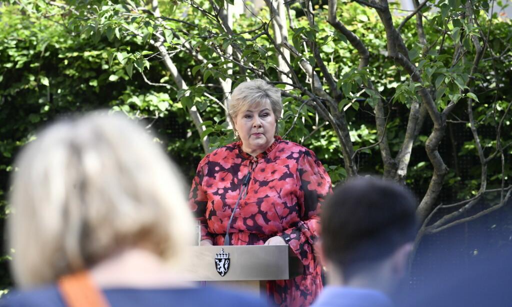 UTFORDRENDE: Skal Erna Solberg beholde makten må Venstre og KrF over sperregrensen samtidig som SV, Rødt og MDG synker under den. FOTO: LARS EIVIND BONES / DAGBLADET