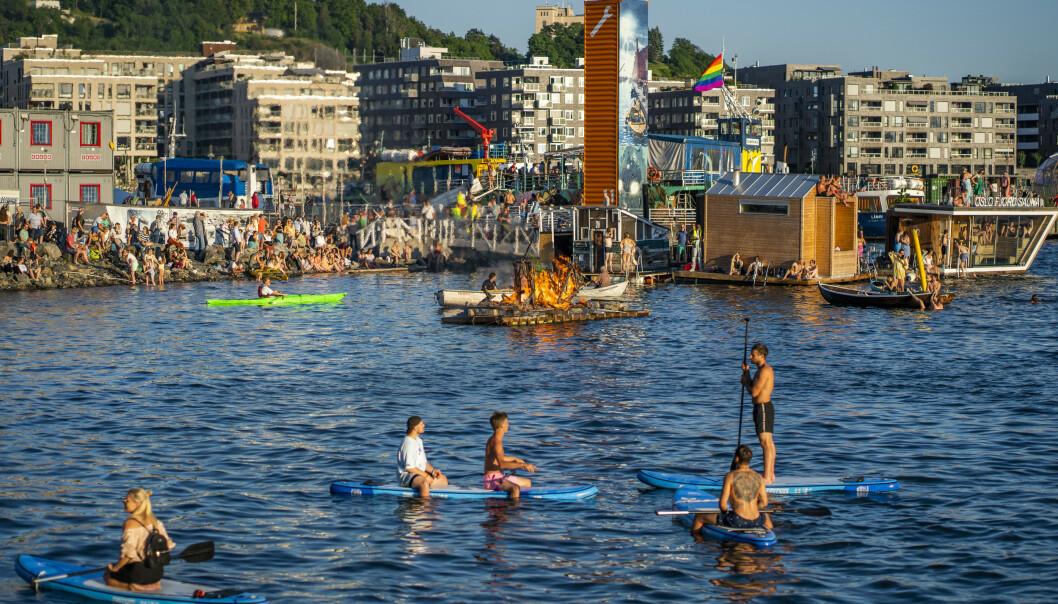Hvis det er en stund siden du har vært i Oslo, er det mye nytt å se. Her fra Bjørvika ved Operaen mot Sørenga. Foto: Håkon Mosvold Larsen/NTB Scanpix