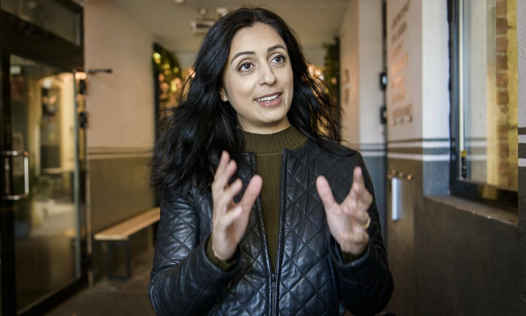 INTERESSERT: Hadia Tajik har både nynorskkunnskaper og erfaring med å utarbeide lover. Hun vurderer å legge inn et tilbud på anbudet om å utarbeide ny foreningslov. Foto: Lars Eivind Bones / Dagbladet