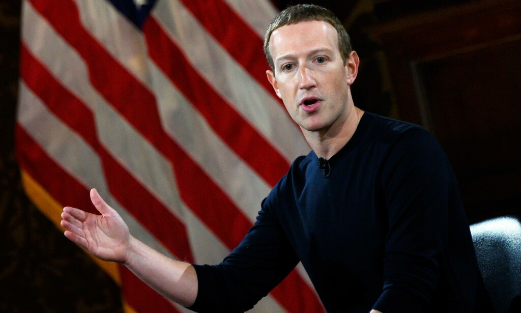 ANSIKT UTAD: Facebook-grunnlegger Mark Zuckerberg under en konferanse ved universitetet i Georgetown. Foto: Andre Caballero-Reynolds / AFP / Scanpix