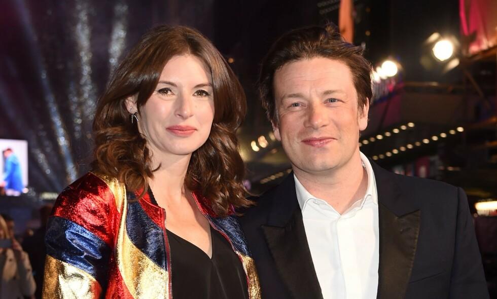 GIFT I 20 ÅR: Jools og Jamie Oliver feiret 20 års bryllupsdag. Her fra 2016. Foto: NTB scanpix