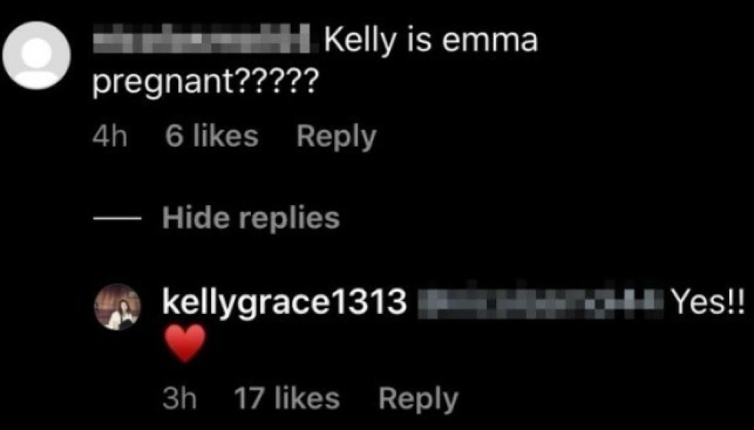 BEKREFTET: Emma Roberts mor var kjapp til å bekrefte nyheten om at datteren venter sitt første barn. Foto: Skjermdump fra Instagram