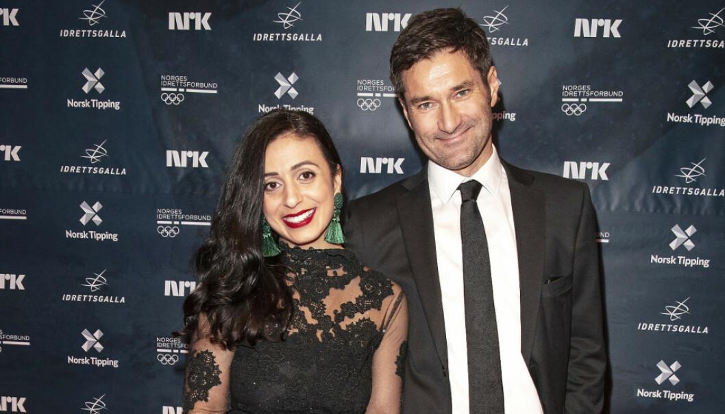 BLIR MAMMA: Hadia Tajik og forloveden Kristian Skard venter barn. Foto: Andreas Fadum/Se og Hør