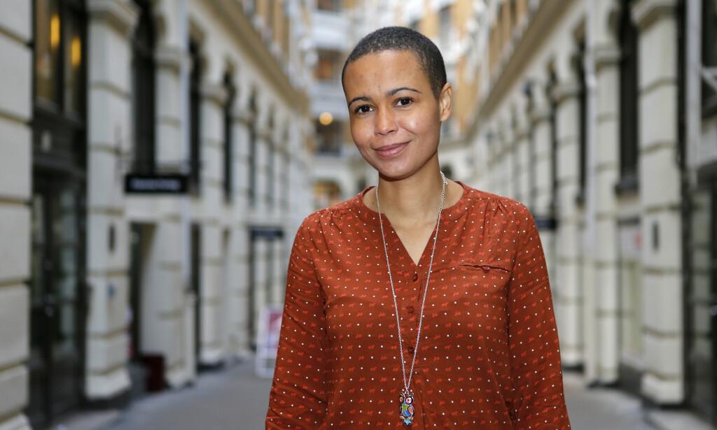 FIKK PRIS: Guro Sibeko mottar årets Ærespris for arbeidet hun har gjort over mange år for rettighetene til skeive og arbeid mot rasisme. Foto: Cornelius Poppe / NTB Scanpix