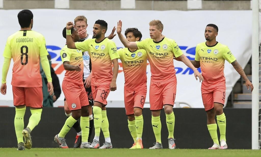 VANT: Manchester City tok en komfortabel seier mot Newcastle. Foto: Owen Humphreys / Pool via AP / NTB Scanpix