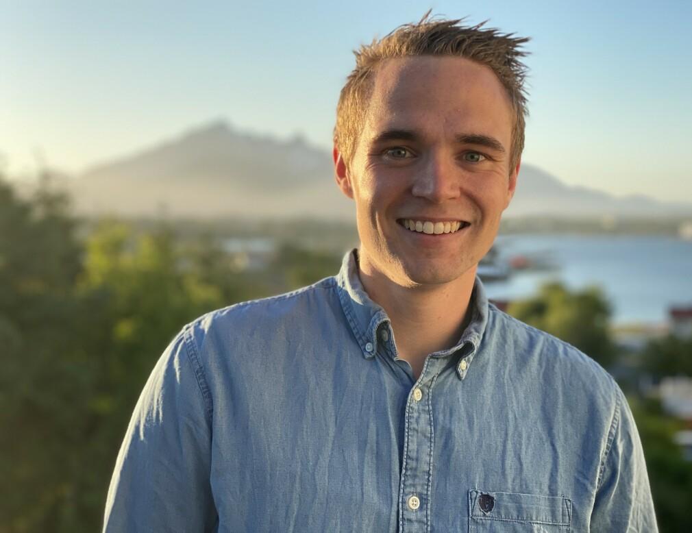 Joakim Sjøhaug har fått seg sommerjobb hos Bekk i Oslo, og hadde planer om å bo i hovedstaden i sommer. Grunnet korona må han jobbe fra Lofoten. 📸: Privat
