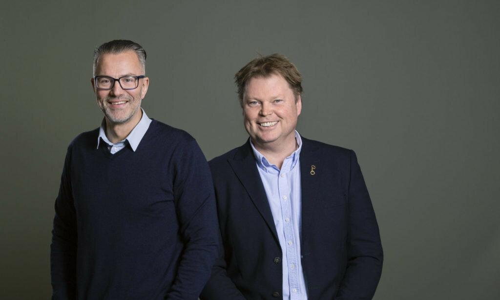 FORFATTERPAR: Thomas Enger og Jørn Lier Horst er ute med sin tredje felles krimbok. Foto: CAPITANA