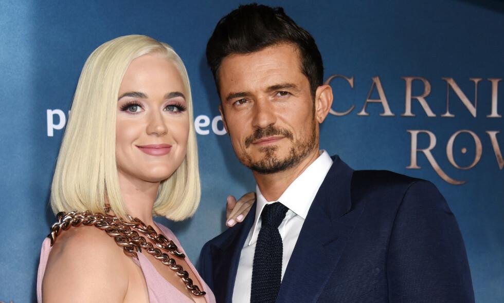 LANGT NEDE: Sangstjerna Katy Perry innrømmer i et nytt intervju at hun tok det tidligere bruddet med sin nåværende forlovede, Orlando Bloom, svært hardt. Foto: NTB Scanpix