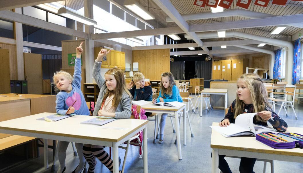 TIDLIG SKOLESTART: For de minste skolebarna er ikke aktivitet og lek en motsetning til læring - det er en forutsetning for læring, skriver kronikkforfatteren. Foto: Gorm Kallestad / NTB scanpix