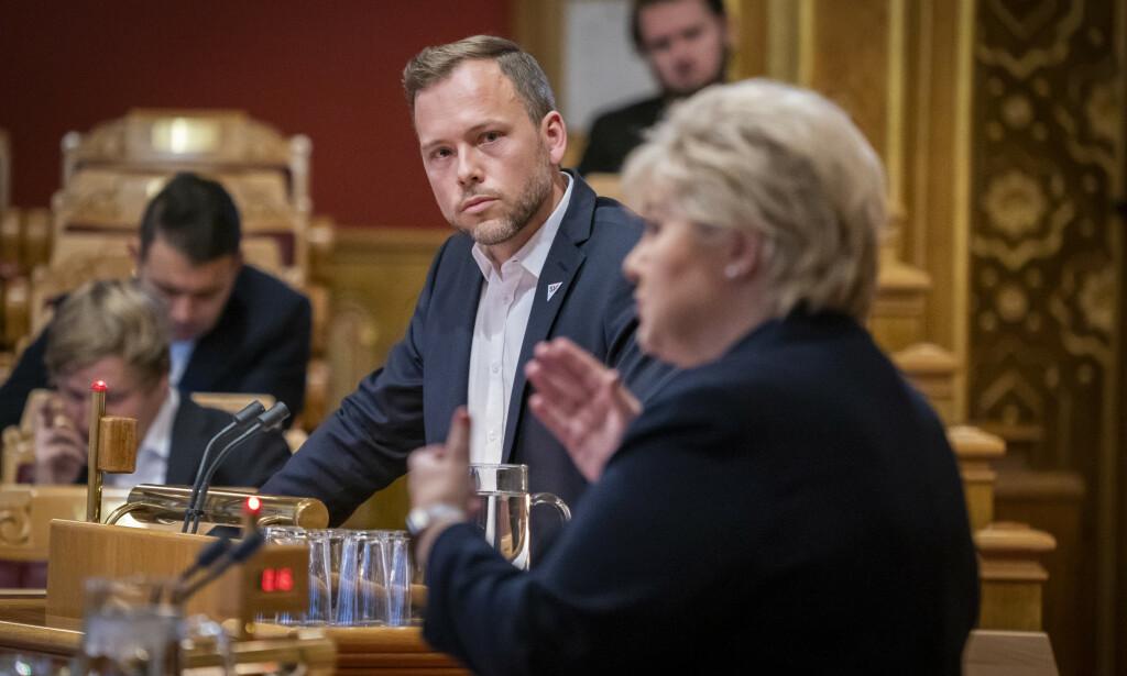 HOTELL-KRISE: - 1000 hotellansatte mister jobben sin fordi statsministeren ikke gjør jobben sin, mener SV-leder Audun Lysbakken. Foto: NTB scanpix