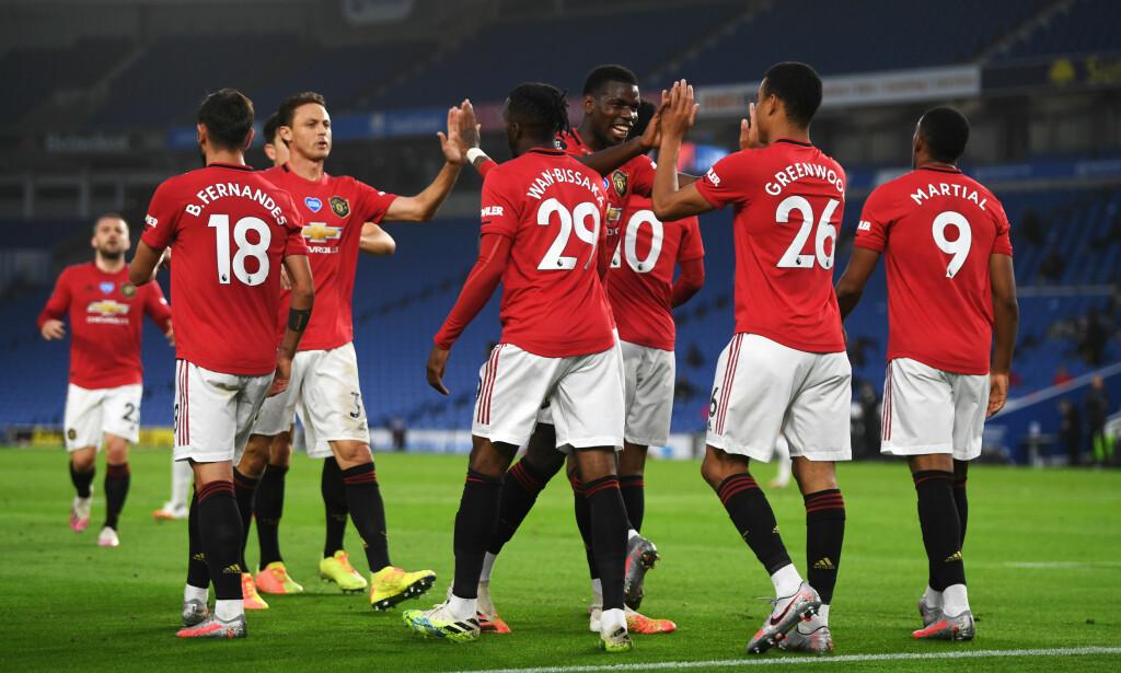 LEKENDE LETT: Manchester United var det klart beste laget mot Brighton. Foto: NTB Scanpix