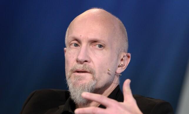 SØRGER: Stjerneforfatter Lars Saabye Christensen hadde et nært og godt forhold til Beate Grimsrud. Foto: NTB Scanpix