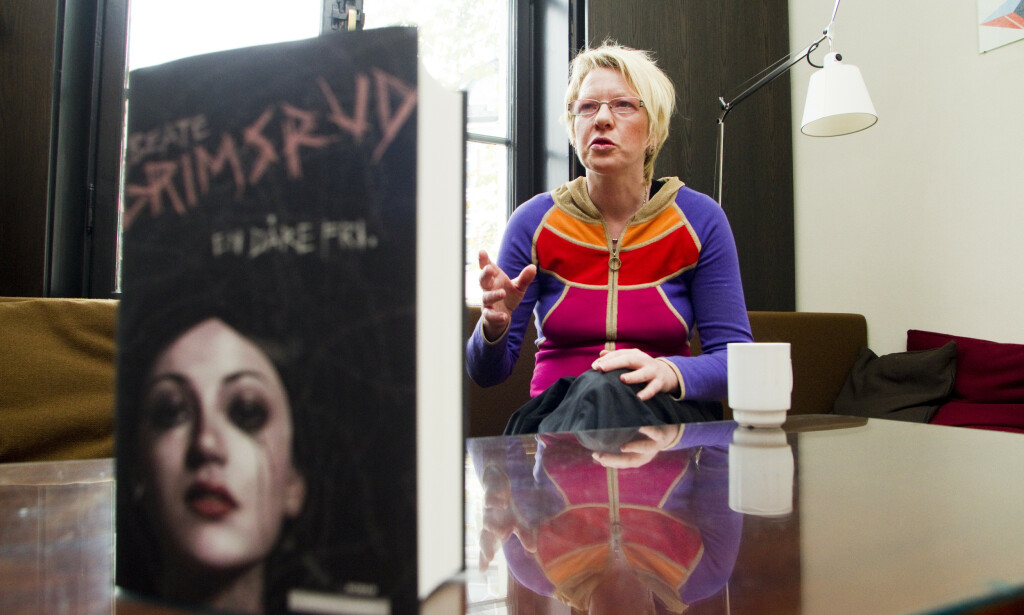 PRISBELØNT: Beate Grimsrud ble 57 år gammel. Her fra da hun lanserte boka «En dåre fri» i 2010. Foto: NTB Scanpix