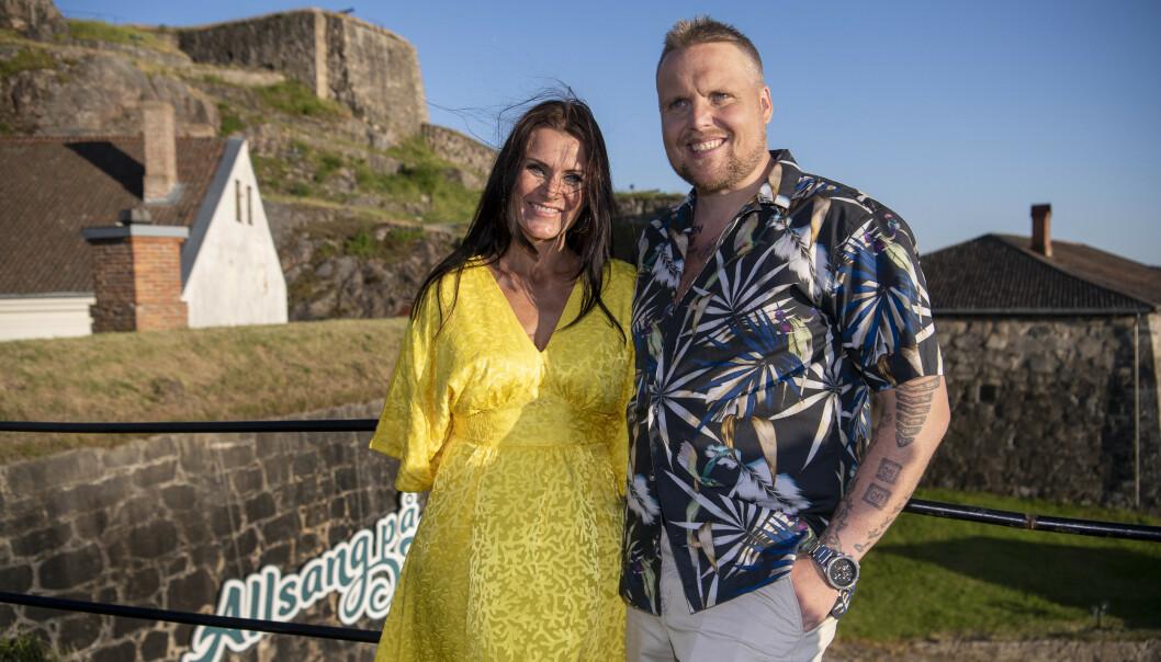 DUO: I sommer skal Katrine Moholt og Staysman lede «Allsang på grensen» fra Halden. Foto: Lars Eivind Bones / Dagbladet