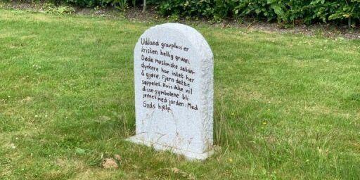image: Rystet av hærverk på barnegrav