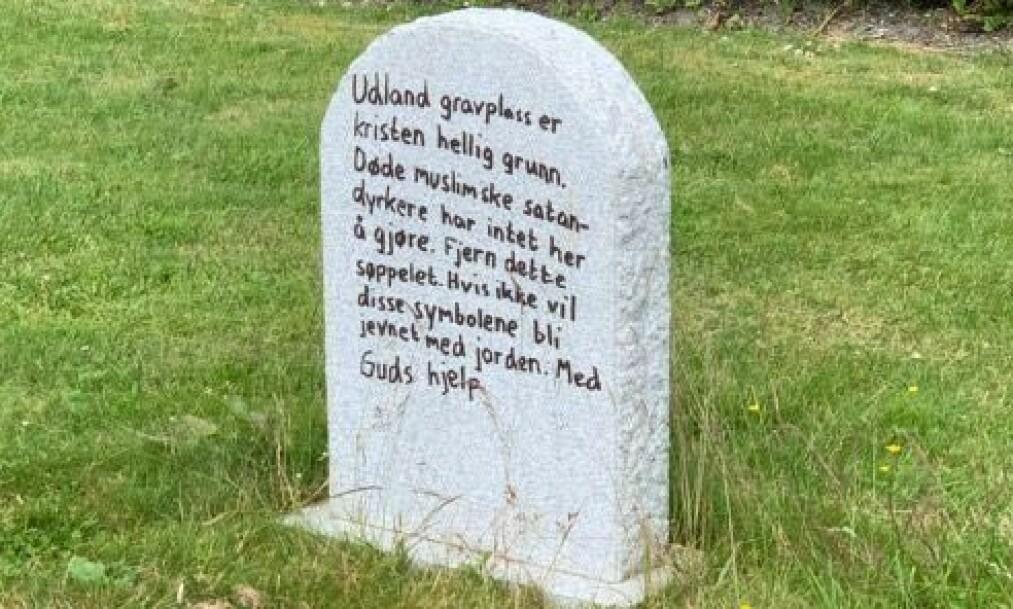 HÆRVERK: Slik ble gravplassen på Udland gravlund i Haugesund funnet i helga. Foto: Privat.