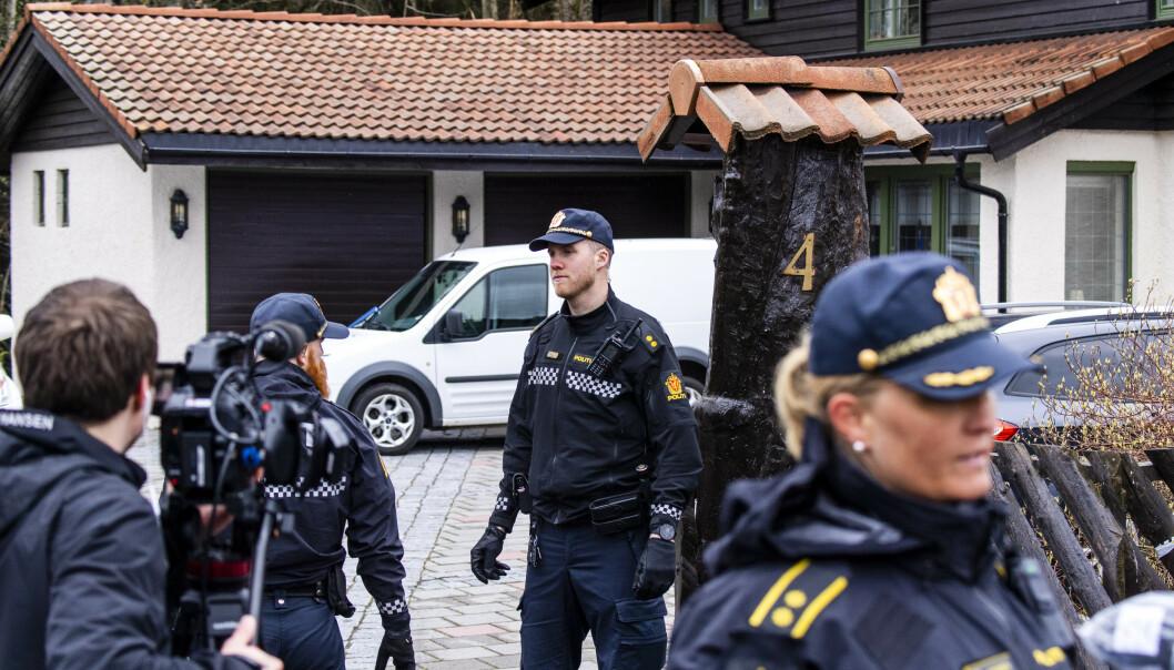 SPERRET AV: Politiet startet undersøkelser i Tom Hagens bolig samme dag som han ble arrestert. Foto: Lars Eivind Bones / Dagbladet