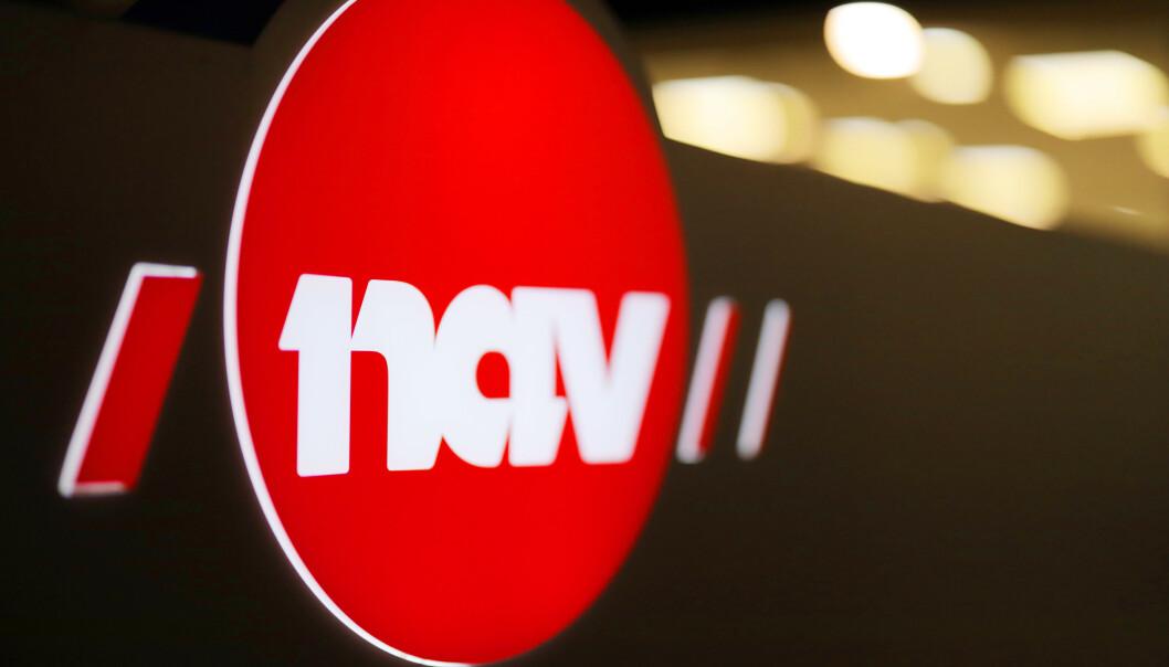 Oslo 20191104.  NAV logoer i mørket. Foto: Ørn E. Borgen / NTB scanpix