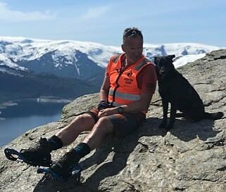 FJELLVAKT: Leiv Varberg har vært frivillig i Røde Kors siden han var 17 år gammel. Foto: Privat