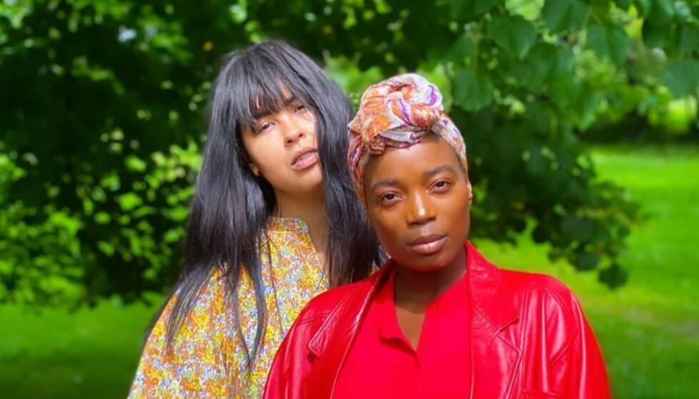 TIL POLITIET: Maria Mena og Tinashe Williamson har i dag anmeldt en bruker på Instagram for rasisme. Foto: Maria Mena / Privat