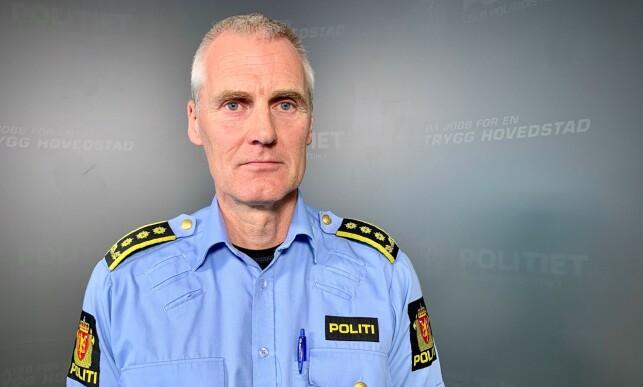 POLITILEDER: Henrik Nilssen er stabssjef i Oslo politidistrikt. Han framholder at politiet er helt meningsnøytrale ved demonstrasjoner som den på Mortensrud. Foto: Ralf Lofstad / Dagbladet