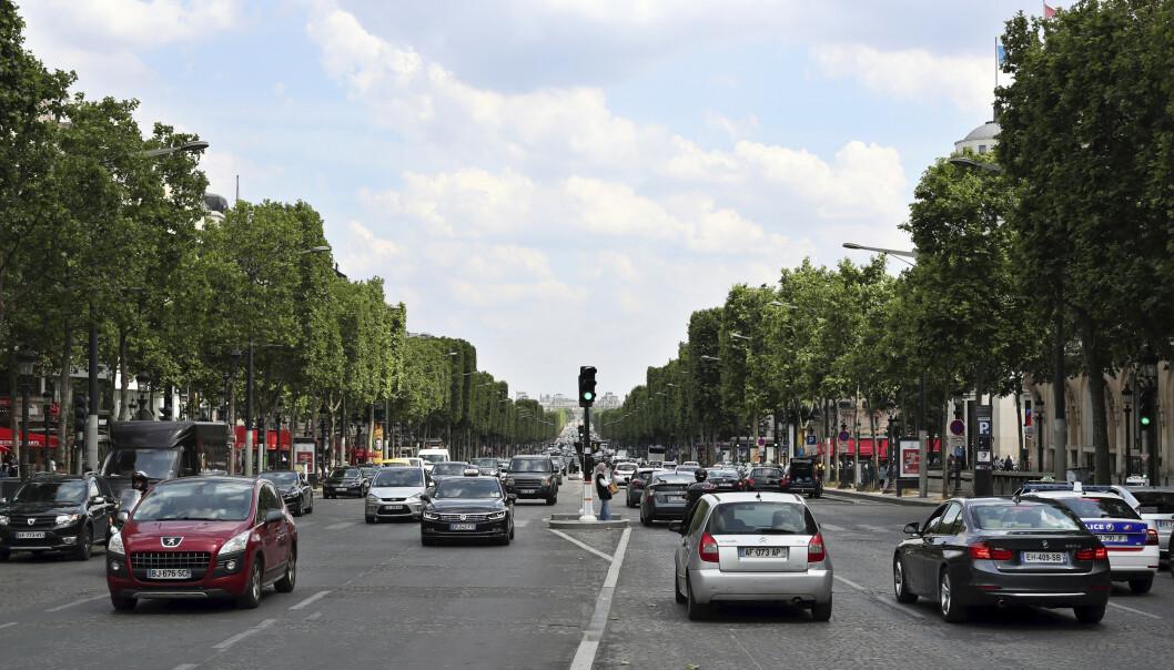 Franske bilførere er Europas mest uhøflige, ifølge en spørreundersøkelse om oppførsel i trafikken. Foto: Thibault Camus / AP / NTB scanpix